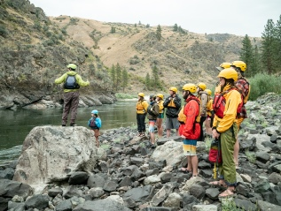 Rafting with the RSTM program at the University of Idaho